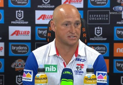 Nathan Brown reacts to nightmare Knights showing after coaching announcement