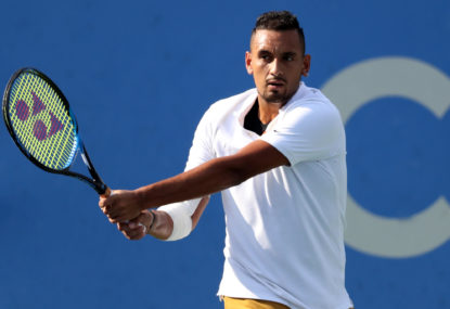 Nick Kyrgios blasts way to US Open second round