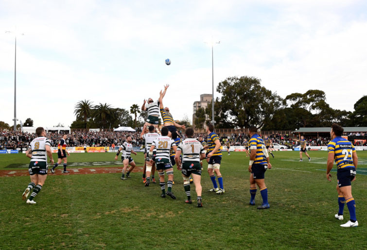 Sydney University and Warringah in the Shute Shield