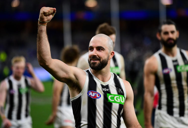 Steele Sidebottom celebrates.