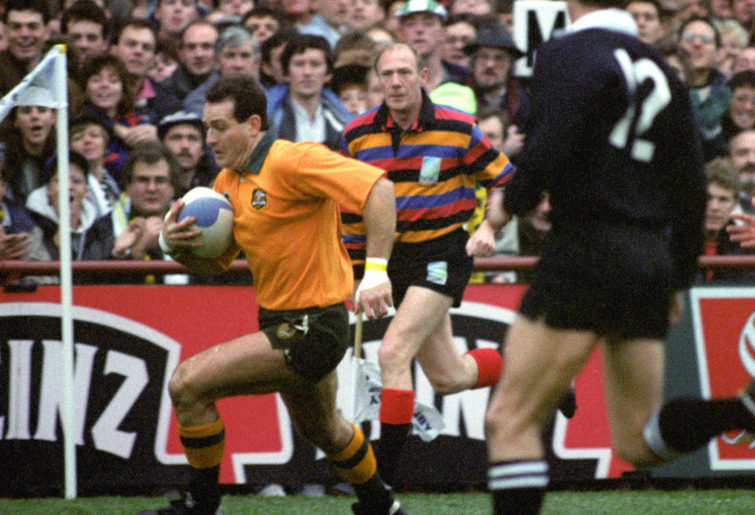 David Campese in action for Australia