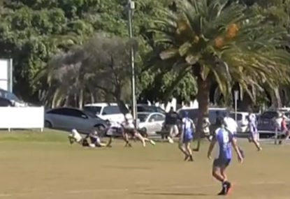 Brothers combine to score scintillating 80m kick-n-chase try
