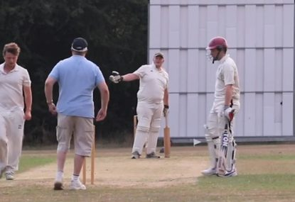 Batsman blows up about bad light after missing out on a free hit