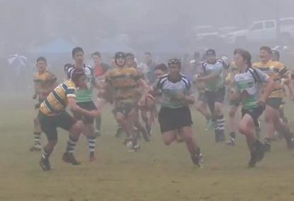 Winger defies atrocious conditions to single-handedly destroy opposition