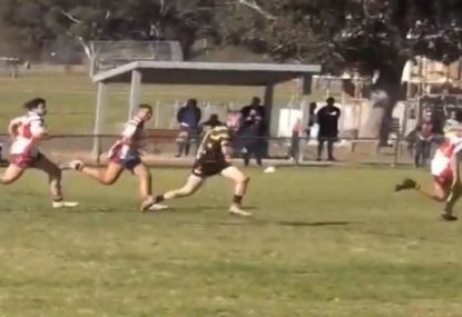 U16s star produces carbon copy of Nathan Blacklock's famous 1999 GF try