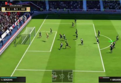 Deadly FIFA volley off corner smashes the back of the net