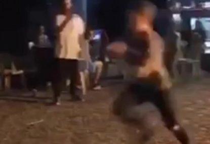 Bloke gets dropped in fiery Run It Straight