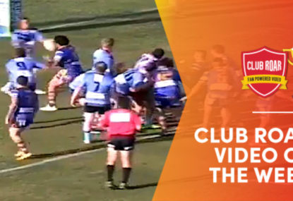 CLUB ROAR VIDEO OF THE WEEK: Big Boppa snags himself the strangest intercept try ever
