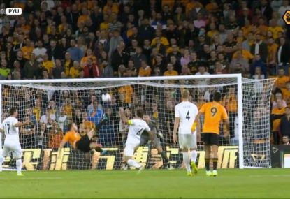 Wolves striker caps off EL qualifier win with stunning scissor kick