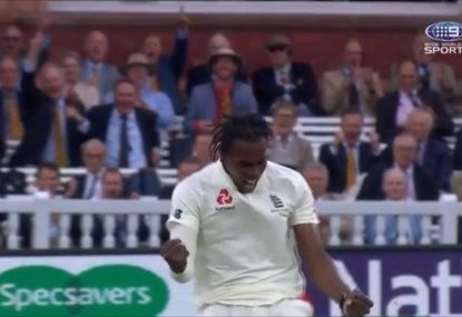The 'marginal call' that gave Jofra Archer his first Test wicket