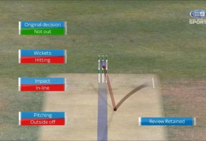 Yep, Aleem Dar really thought this was going down leg