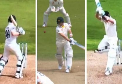 Steve Smith's way of leaving the ball is getting weirder and weirder