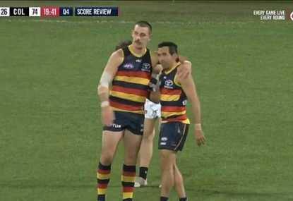 WATCH: Eddie Betts kicks 600th career goal like only he can