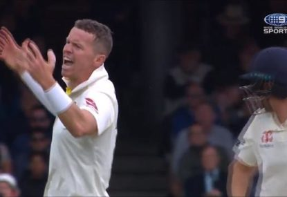 Peter Siddle livid as David Warner puts down another catch off his bowling