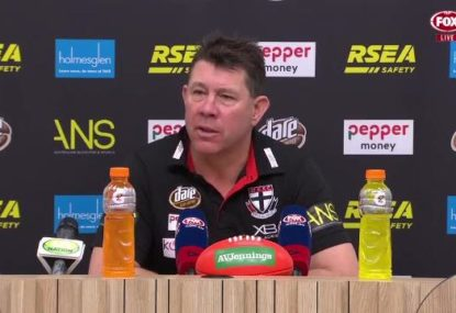 'It was like pulling teeth': Ratten's frank assessment of Saints' second half