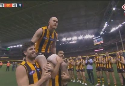 Jarryd Roughead shines with six goals in 'official' farewell game
