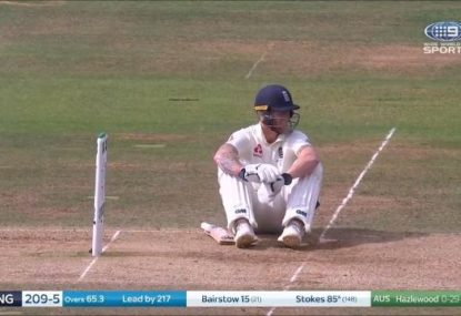 Ben Stokes' reaction to copping a low blow might be the funniest thing ever