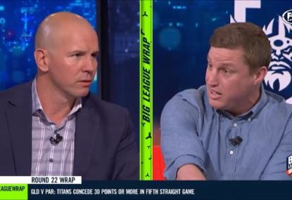Brett Finch furiously defends Storm 'wrestling' tactics in heated argument