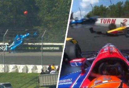 IndyCar race gets off to shocking start with scary five-car crash