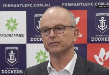 Fremantle President speaks after head coach and CEO sackings