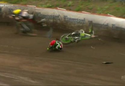 Polish rider's lucky escape at Scandinavian Speedway Grand Prix