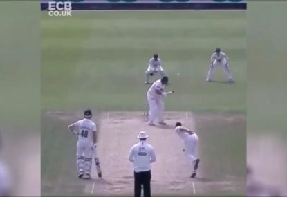 Mark Cosgrove shows the Aussies how real men handle the short ball
