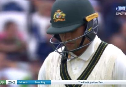 Usman Khawaja finds one of the worst ways to get out