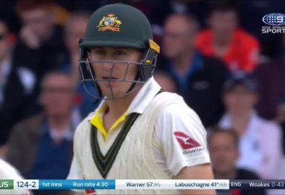 Did Marnus Labuschagne drop a cheeky C-bomb after missing out on a bad ball?