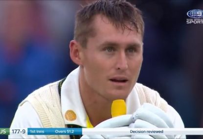 The bizarre, totally village way Marnus Labuschagne's fighting knock was ended