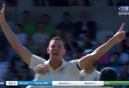 Josh Hazlewood rips through England's top order with two early poles