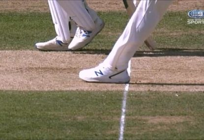 Was Pat Cummins lucky to avoid getting a wicket overturned?