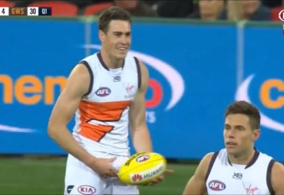 Was Jeremy Cameron awarded a mark after the siren?