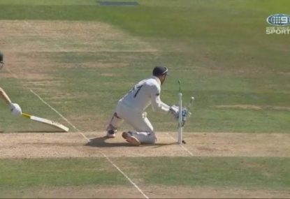 Labuschagne out for 80 after sneaking that extra run on a misfield