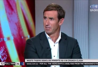 Andrew Johns savages... pretty much everyone at the Knights