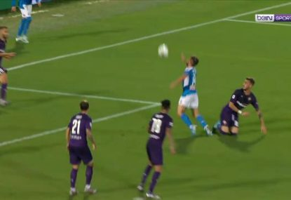 Napoli striker puts in one of the all-time great dives to win a penalty