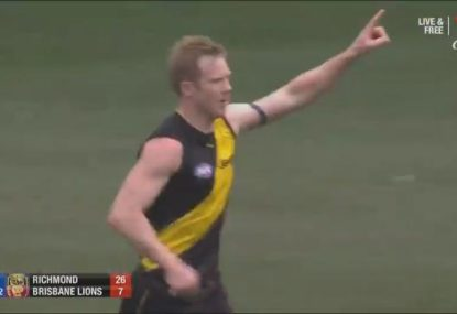 Riewoldt at his best with four first quarter goals