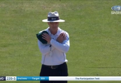 Another umpiring howler only delays Jonny Bairstow's departure by an over