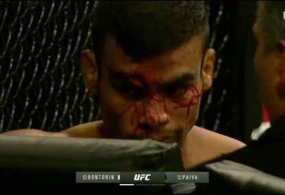 WARNING GRAPHIC: Sickening cut ends UFC Uruguay fight