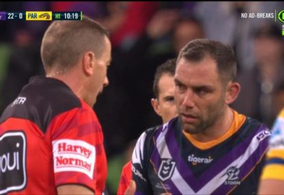 WATCH: The moment Cameron Smith was sin binned for a slap