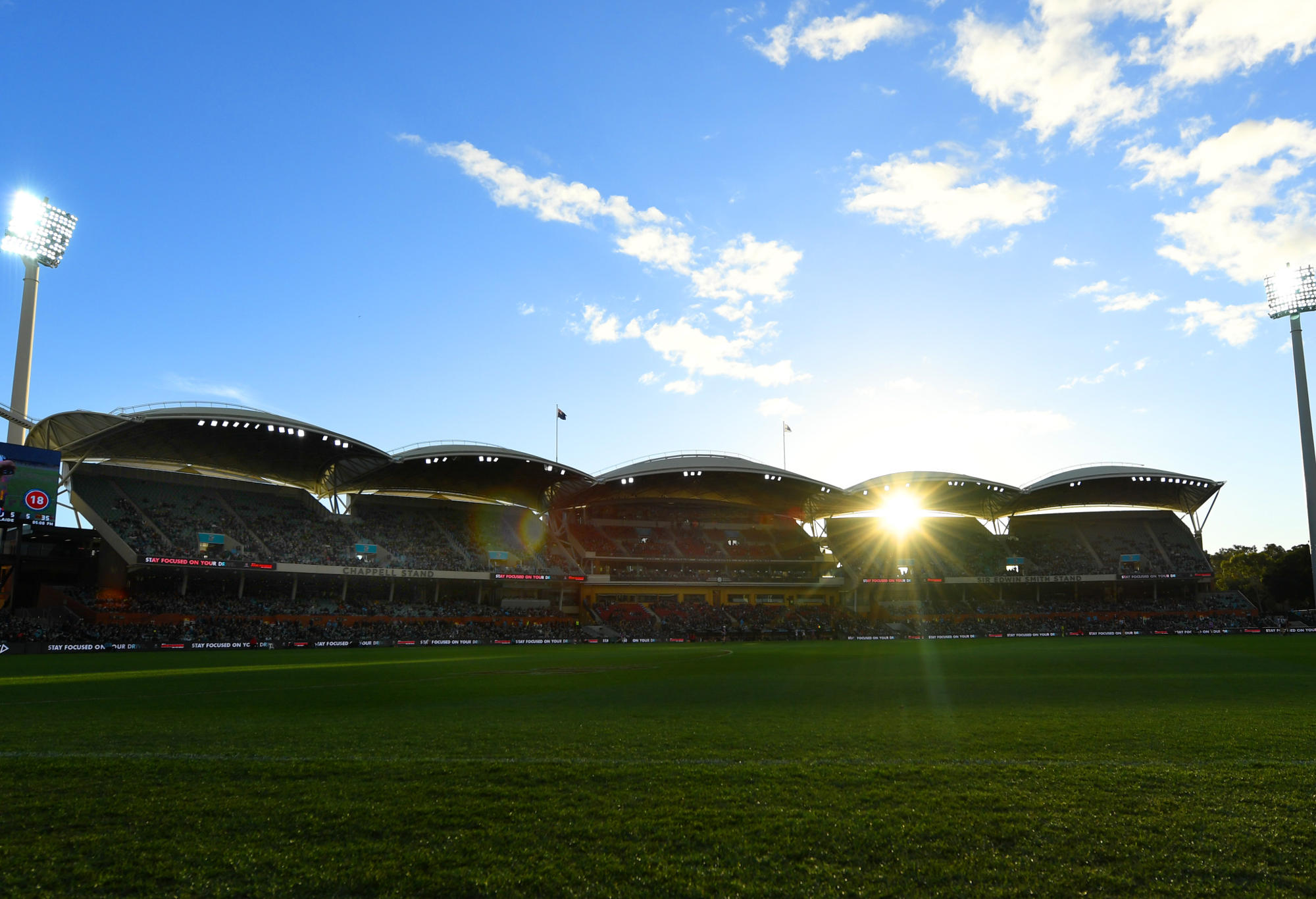 The Adelaide Oval's western stands.