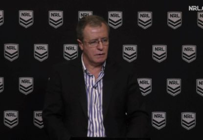 NRL defend 'devastated' touch judge, hit out at online trolls