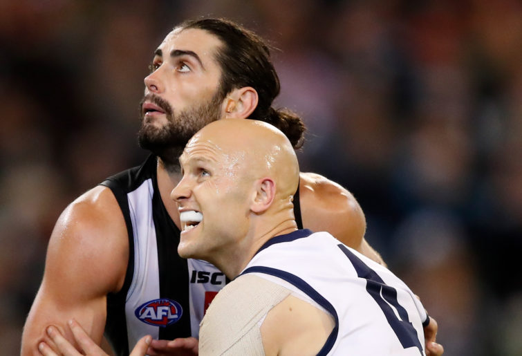 Brodie Grundy and Gary Ablett.