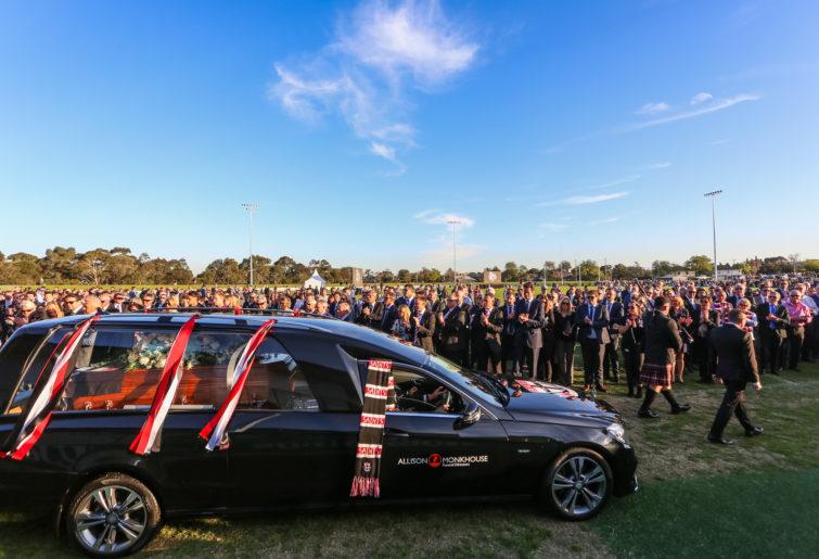 Danny Frawley funeral at Moorabbin.