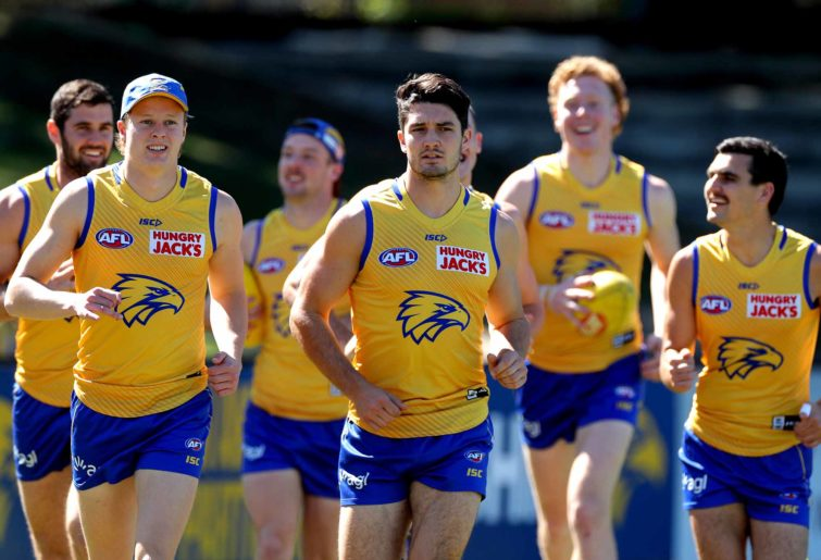 The Eagles in training ahead of the finals
