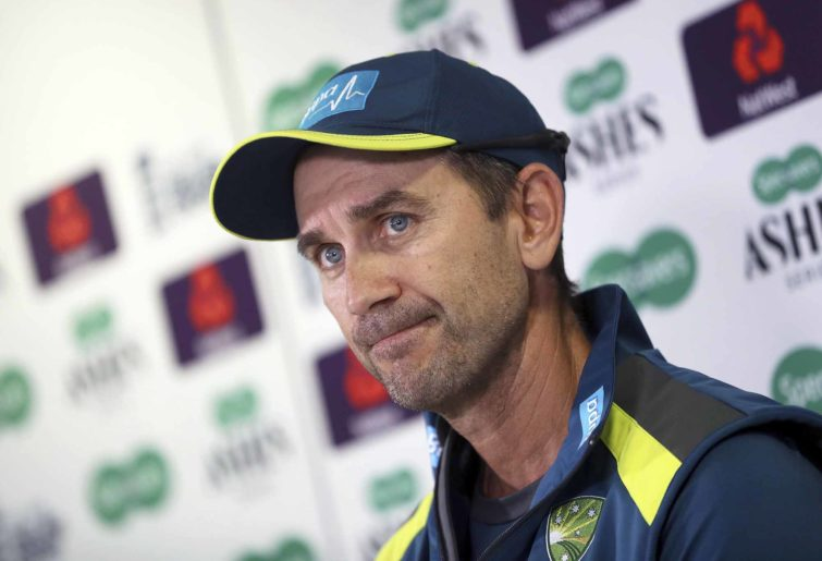Justin Langer looks disappointed