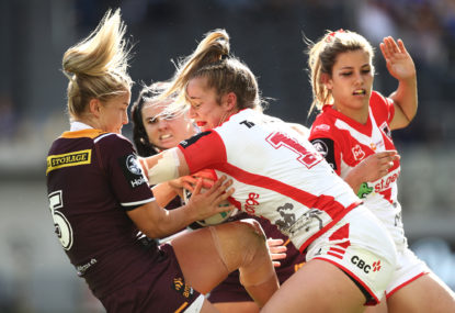 The NRLW grand final is a toss of the coin