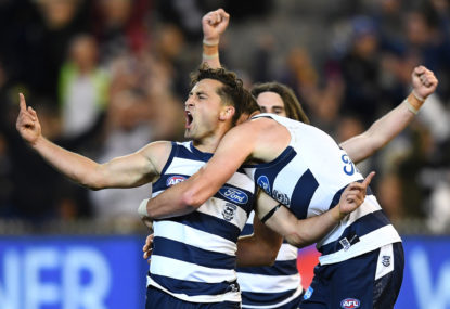 Geelong's fast start and strong finish eliminates Eagles