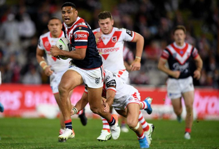 Daniel Tupou on the burst