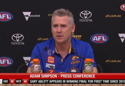 West Coast 'hurting' for Willie Rioli: Adam Simpson