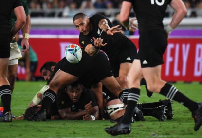 All Blacks scrape past Springboks in Rugby World Cup clash